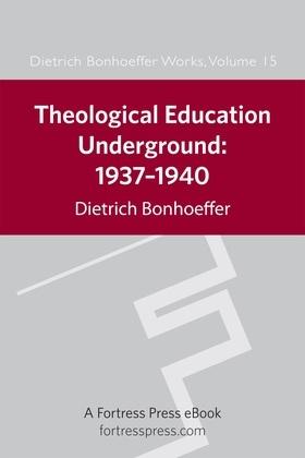 Theological Education Underground: 1937-1940