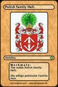 The noble Polish family Helt. Die adlige polnische Familie Helt.