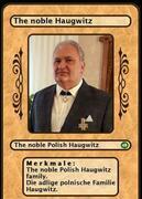 The noble Polish Haugwitz family. Die adlige polnische Familie Haugwitz.