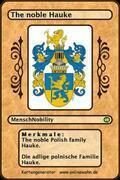 The noble Polish family Hauke. Die adlige polnische Familie Hauke.