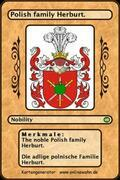 The noble Polish family Herburt. Die adlige polnische Familie Herburt.