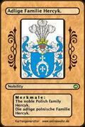 The noble Polish family Hercyk. Die adlige polnische Familie Hercyk.