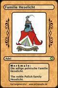 Die adlige polnische Familie Heselicht. The noble Polish family Heselicht.