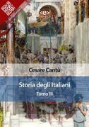 Storia degli italiani. Tomo III