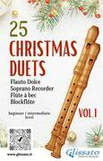 25 Christmas Duets for soprano recorder - VOL.1