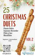25 Christmas Duets for soprano recorder - VOL.2