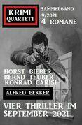 Vier Thriller im September 2021: Krimi Quartett 4 Romane 9/2021