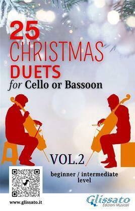 25 Christmas Duets for Cello or Bassoon - VOL.2