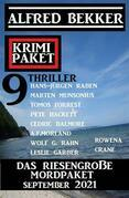Das riesengroße Mordpaket September 2021: Krimi Paket 9 Thriller