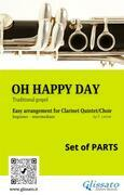 Oh Happy Day - Clarinet Quintet/Choir (set of 10 parts)