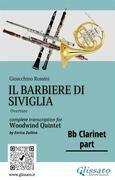 """Bb Clarinet part of """"Il Barbiere di Siviglia"""" for Woodwind Quintet"""
