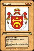 The noble Polish family Korybut. Die adlige polnische Familie Korybut.