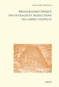 Bibliographie critique des ouvrages et traductions de Gabriel Chappuys