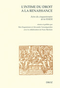 L'intime du droit à la Renaissance