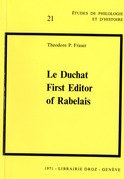 Le Duchat First Editor of Rabelais