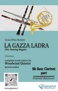 "Bb Bass Clarinet part of ""La Gazza Ladra"" for Woodwind Quintet"