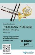 "Bb Clarinet part of ""L'Italiana in Algeri"" for Woodwind Quintet"