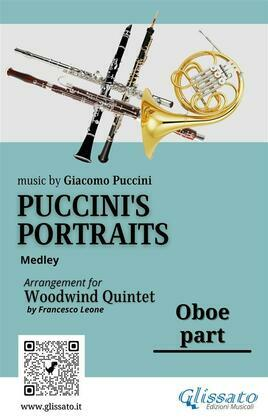 """Oboe part of """"Puccini's Portraits"""" for Woodwind Quintet"""