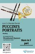 """French Horn in F part of """"Puccini's Portraits"""" for Woodwind Quintet"""