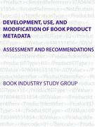 Development, Use, and Modification of Book Product Metadata: Assessment and Recommendations