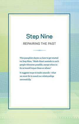 Step 9 AA Repairing the Past