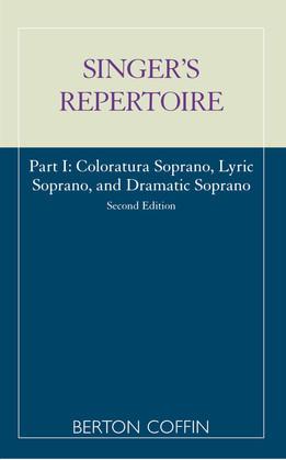 The Singer's Repertoire, Part I