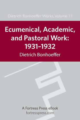 Ecumenical, Academic, Pastoral Work, 1931-1932: 1931-1934