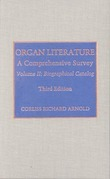 Organ Literature: Biographical Catalog