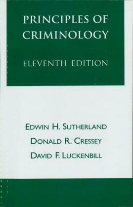 Principles of Criminology