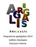 Programme agrégation 2014 - Lettres Classiques - Concours Interne