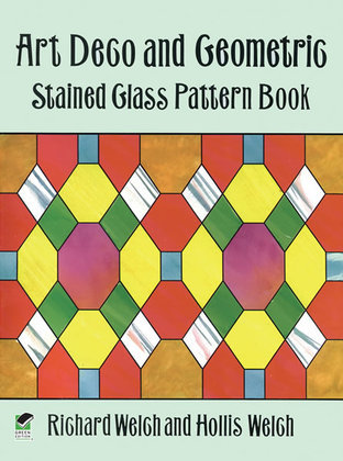 Art Deco and Geometric Stained Glass Pattern Book