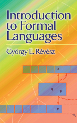 Introduction to Formal Languages