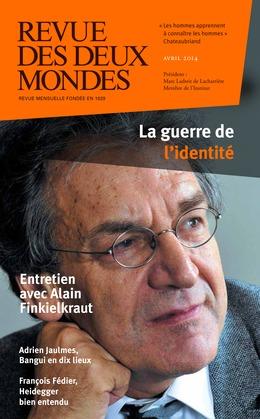 Revue des Deux Mondes avril 2014