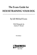 The Evans Guide for Housetraining Your Dog