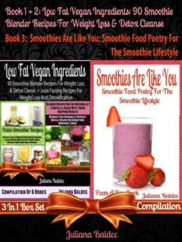 Best Low Fat Vegan Ingredients: 90 Smoothie Blender Recipes For Weight Loss & Detox Cleanse: Weight Loss & Detox Cleanse Smoothie Blender Recipes - 3