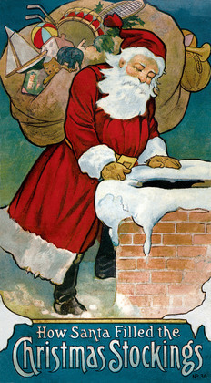 How Santa Filled the Christmas Stockings