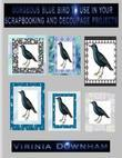 Gorgeous Blue Bird to Use in Your Scrapbooking and Decoupage Projects