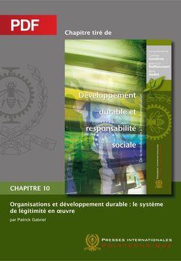 Organisations et développement durable : le système de légitimité en oeuvre (Chapitre PDF)