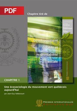 Une écosociologie du mouvement vert québécois aujourd'hui (Chapitre PDF)