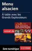 Menu alsacien - À table avec les Grands Explorateurs