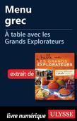 Menu grec - À table avec les Grands Explorateurs
