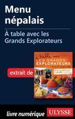 Menu népalais - À table avec les Grands Explorateurs