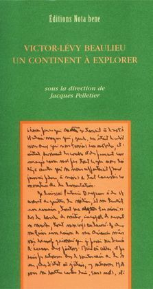 Victor-Lévy Beaulieu. Un continent à explorer