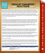 Organic Chemistry Reactions: Speedy Study Guides