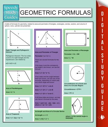 Geometric Formulas: Speedy Study Guides