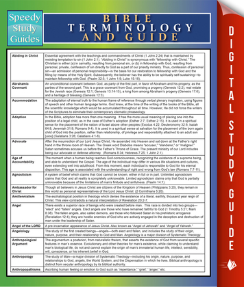 Bible Terminology And Guide