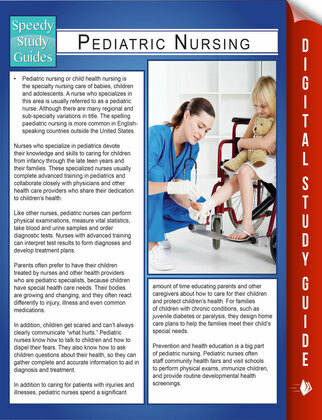 Pediatric Nursing (Speedy Study Guides)