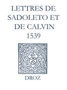Recueil des opuscules 1566. Lettres de Sadoleto et de Calvin (1539)
