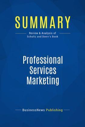 Summary: Professional Services Marketing