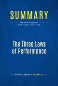 Summary: The Three Laws of Performance